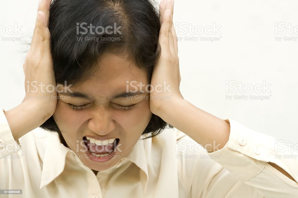 stressful business woman royalty-free stock photo
