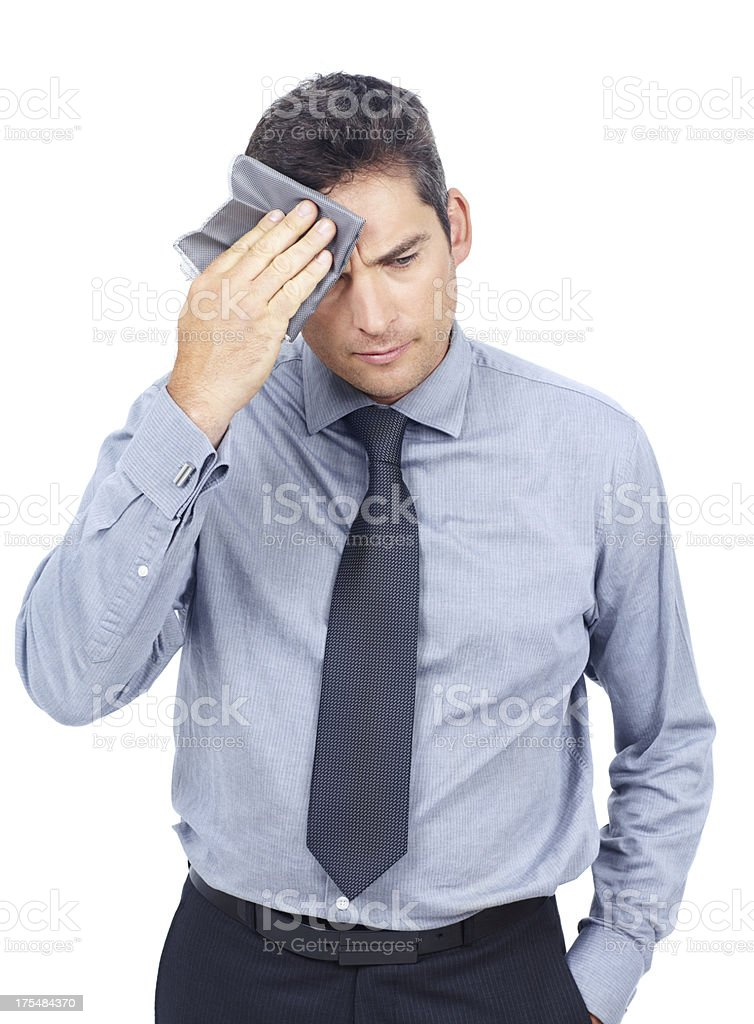 Stressful day at the office stock photo