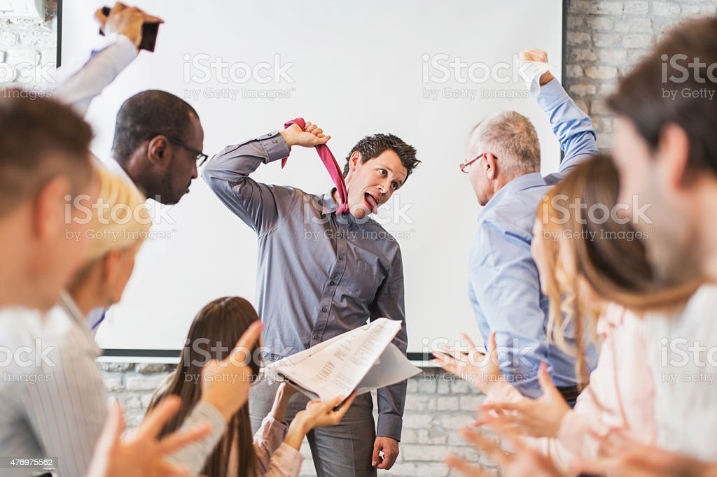 Stressful day in the office! stock photo