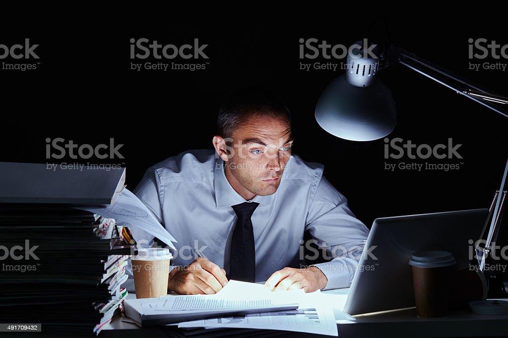 Stressful deadline stock photo