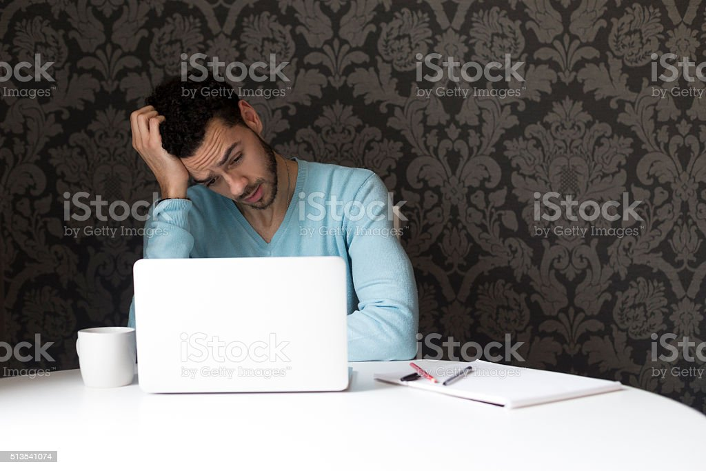 Stressful technical problems stock photo