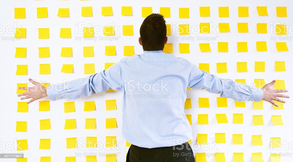 Stressful work for a office worker stock photo
