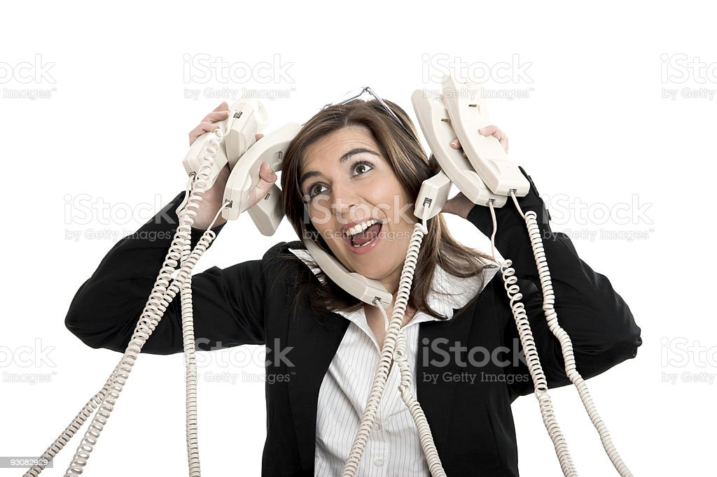 Stressful work royalty-free stock photo