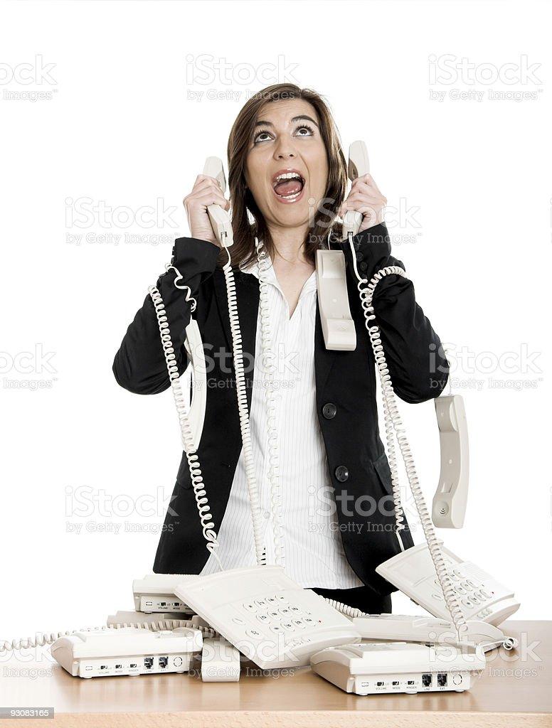 Stressful work royalty-free stock photo