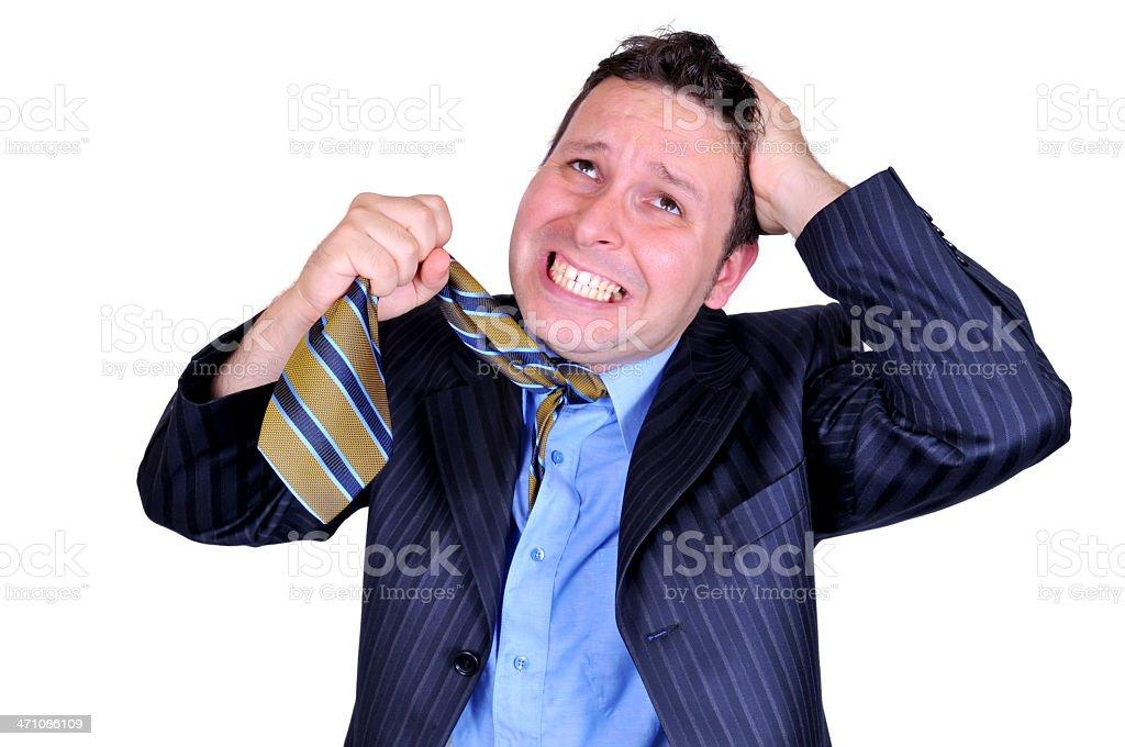 Stressfull Businessman royalty-free stock photo
