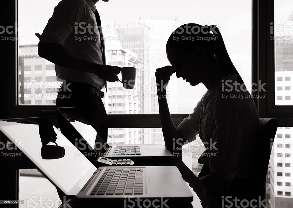 stressfull job stock photo