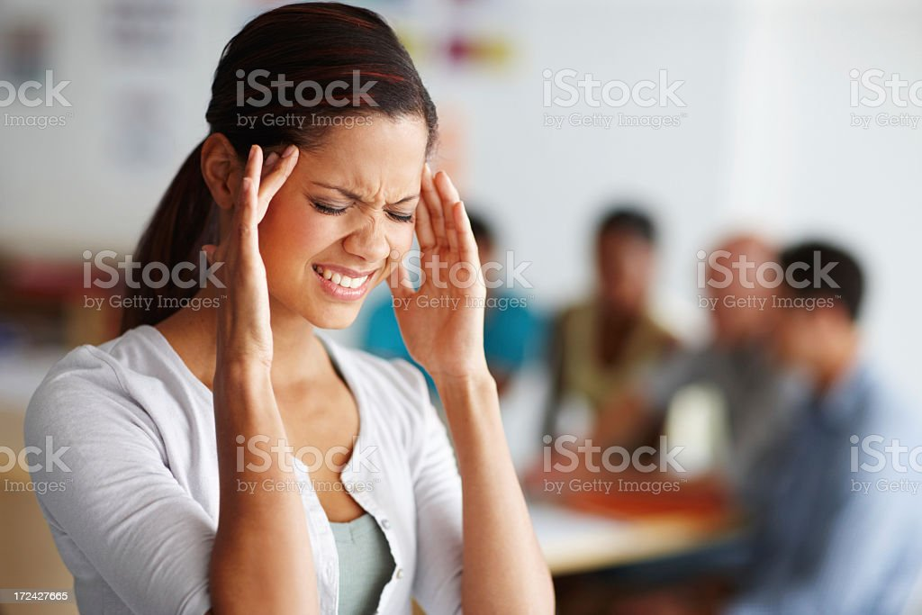 Stress-induced pain stock photo