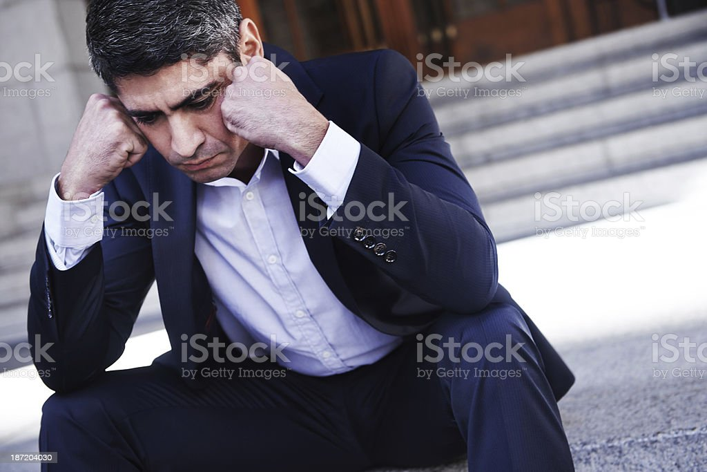 Stressing about work... stock photo