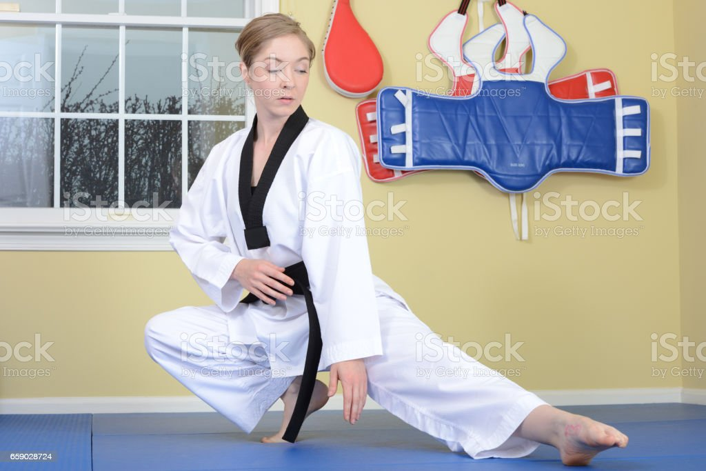 Stretch and Balance stock photo
