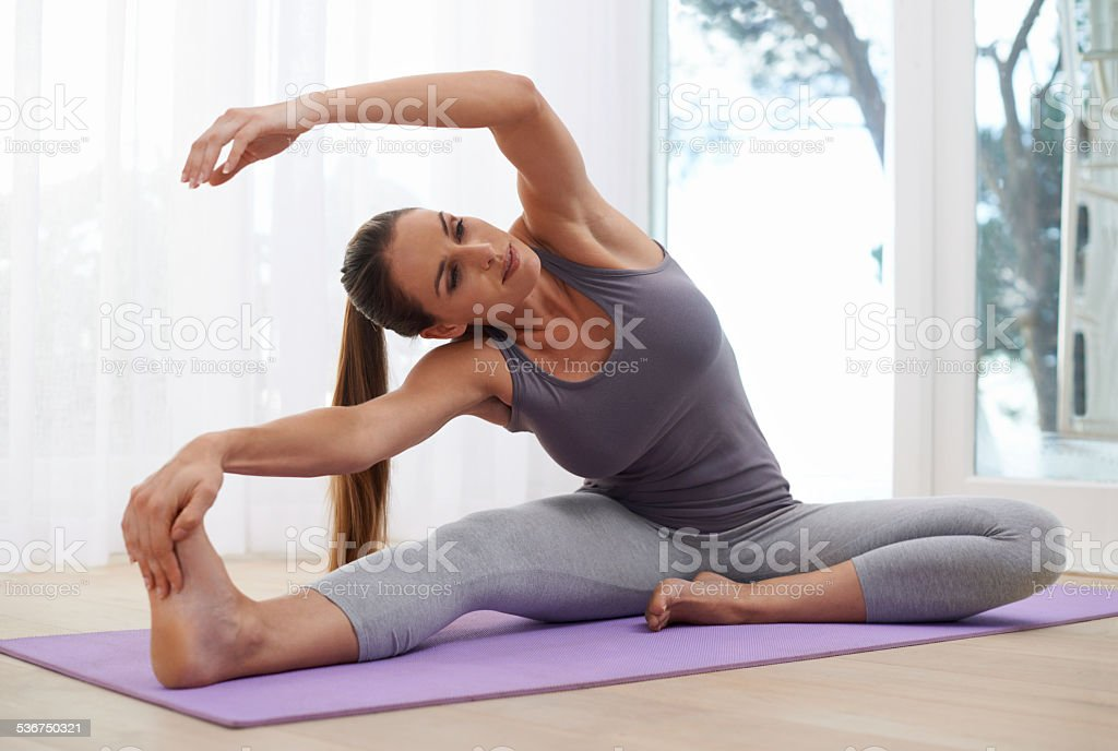 Stretch for success stock photo