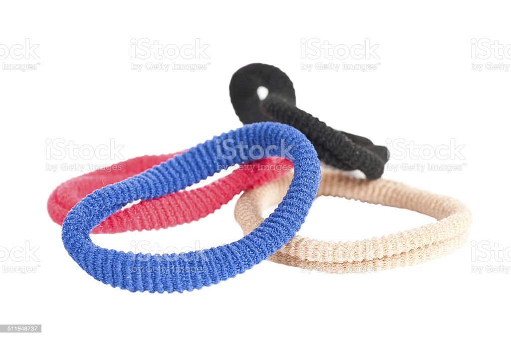 Stretch hair rings stock photo