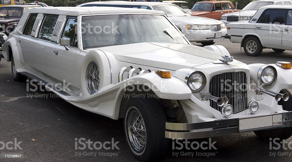 Stretch limo stock photo