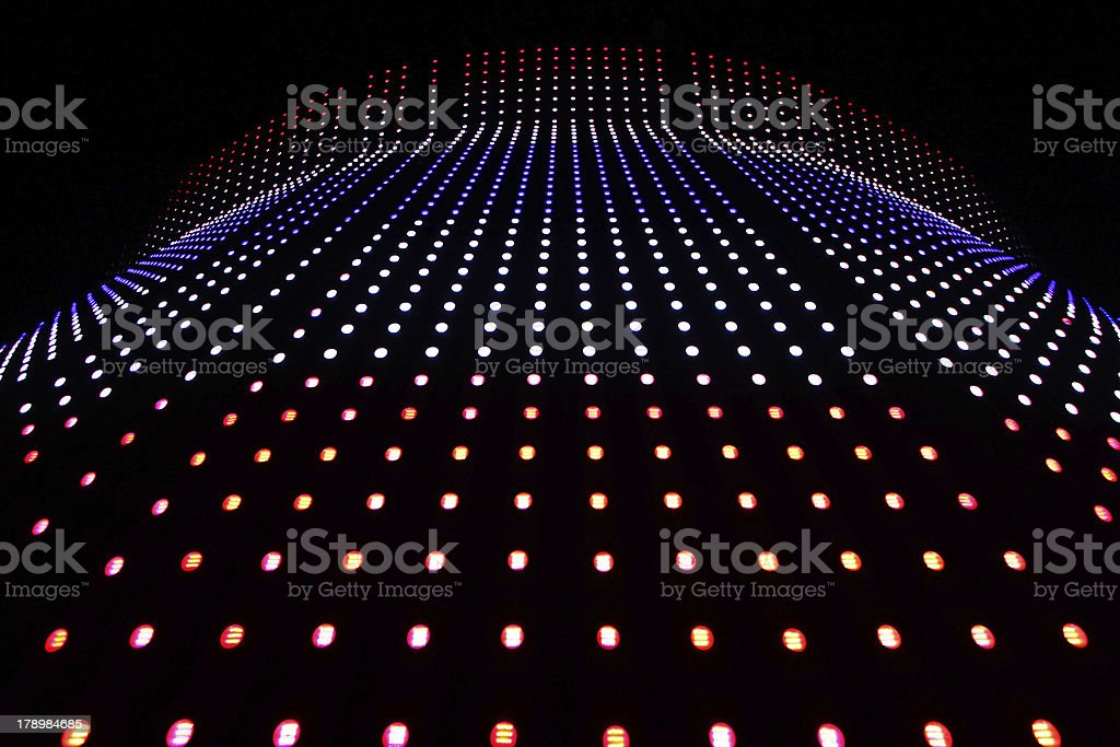 stretch of LED lights royalty-free stock photo