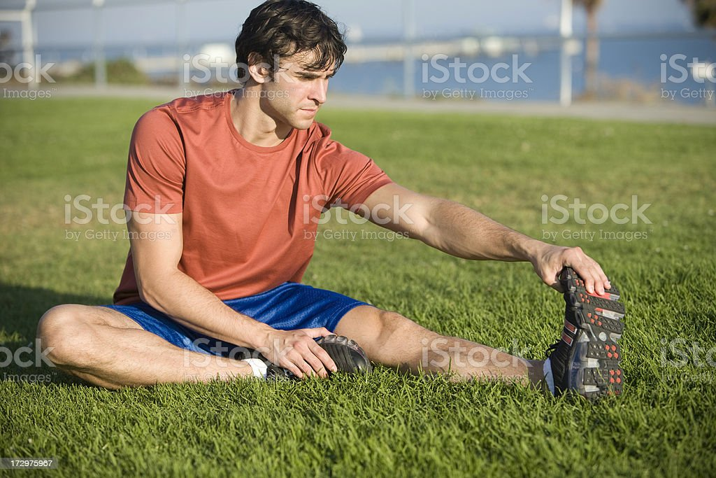 Stretch On Grass royalty-free stock photo