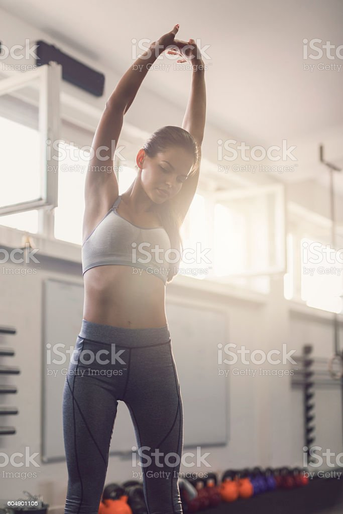 Stretch up stock photo