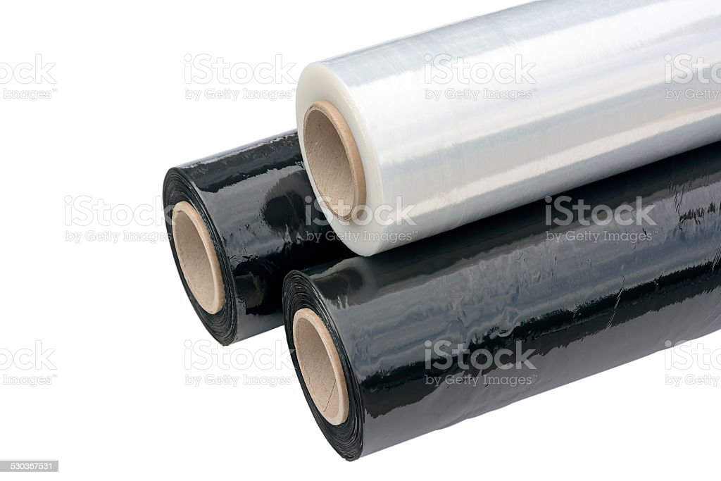 Stretch Wrapping film. stock photo