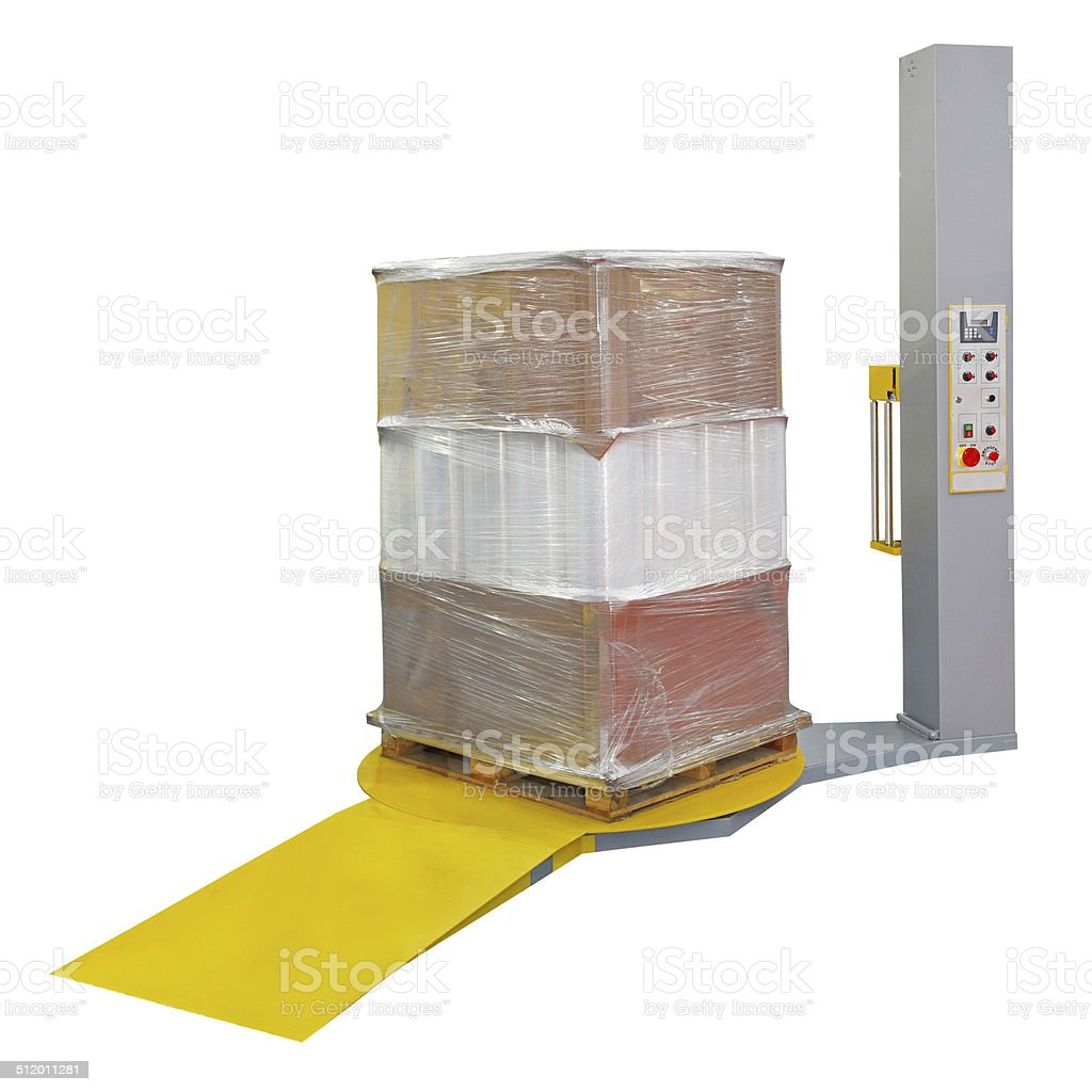 Stretch wrapping stock photo