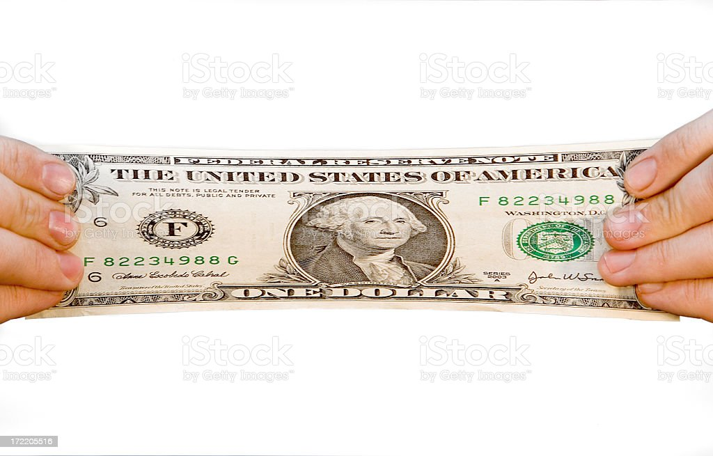Stretch Your Dollar royalty-free stock photo