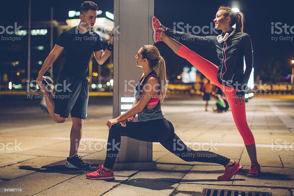 Stretch your muscles stock photo