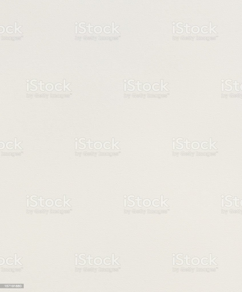 Stretched and primed white canvas with texture visible royalty-free stock photo