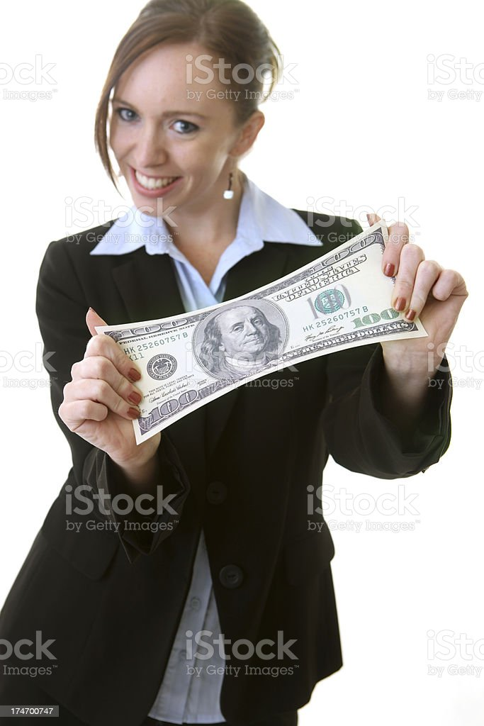 Stretched Budget royalty-free stock photo