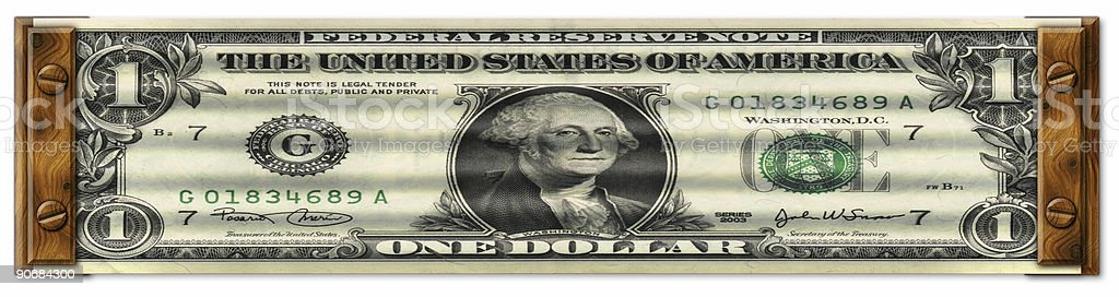 Stretched Dollar royalty-free stock photo