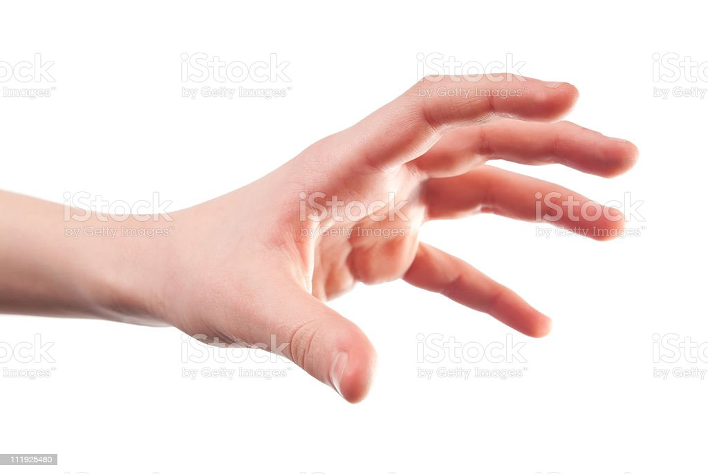 Stretched hand stock photo