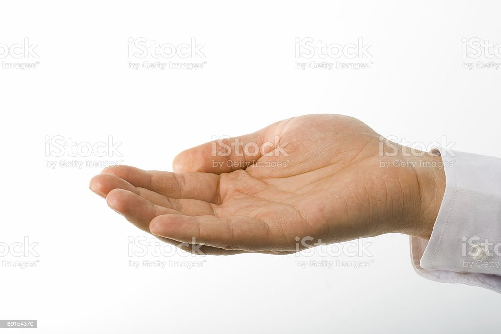 stretched man hand royalty-free stock photo