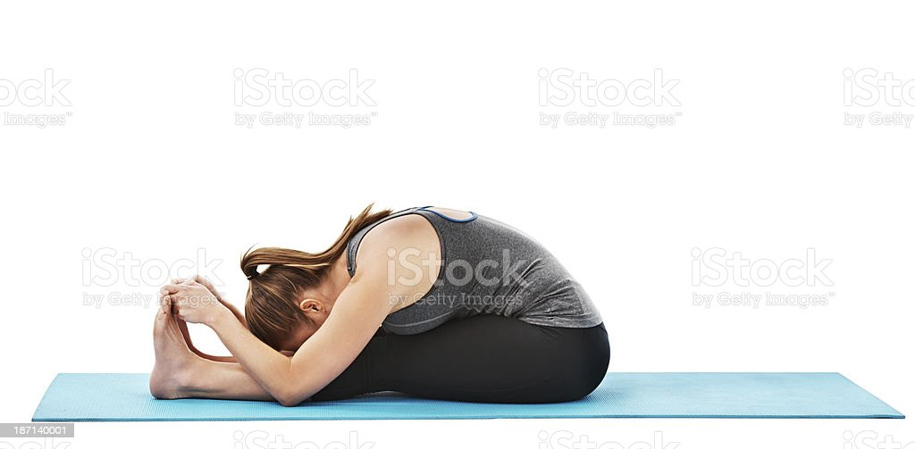 Stretched out to the fullest stock photo