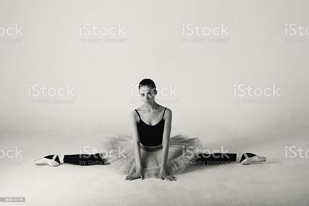 Stretching ballet dancer royalty-free stock photo