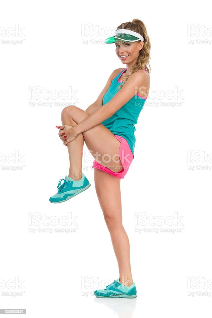 Stretching Buttocks Exercise stock photo