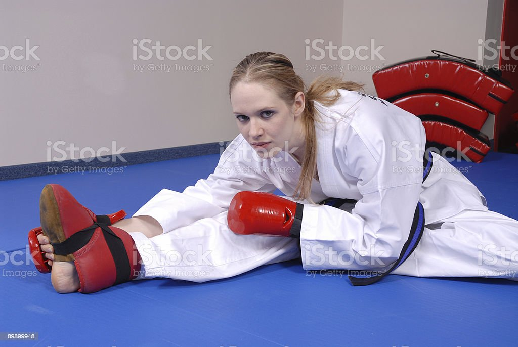 Stretching challenges stock photo