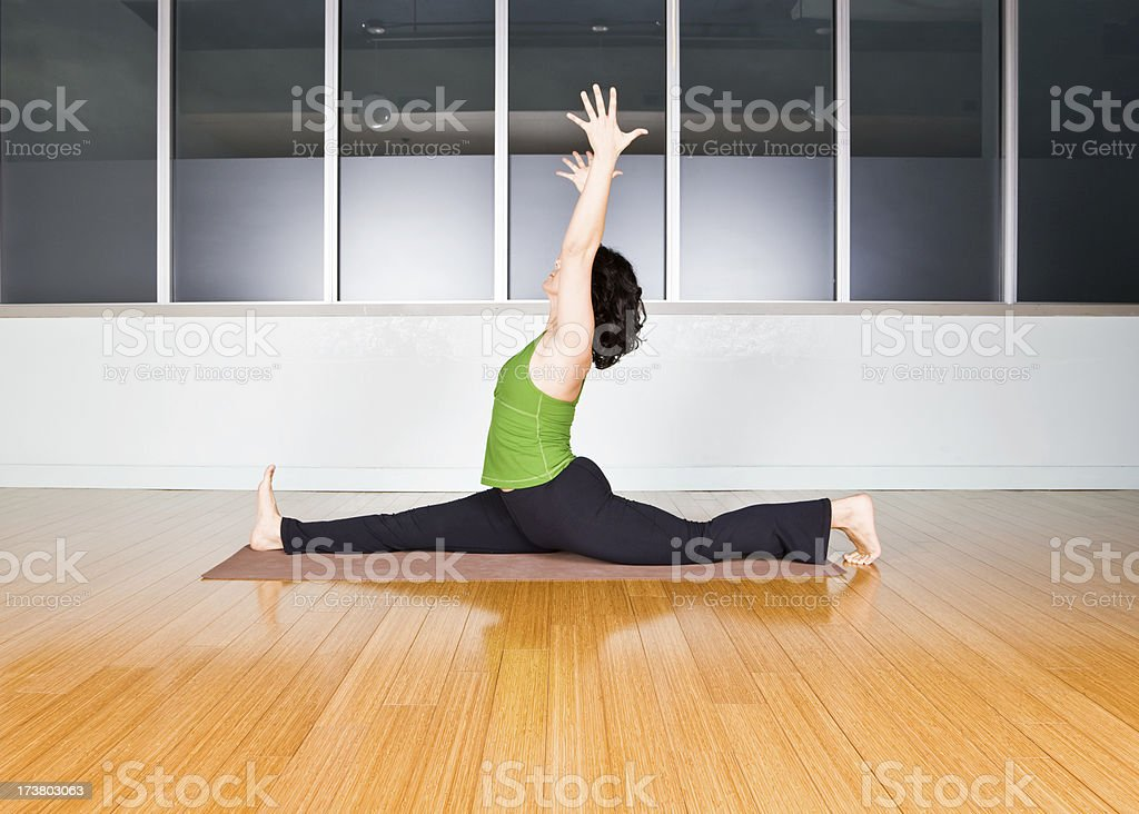 Stretching excercises royalty-free stock photo