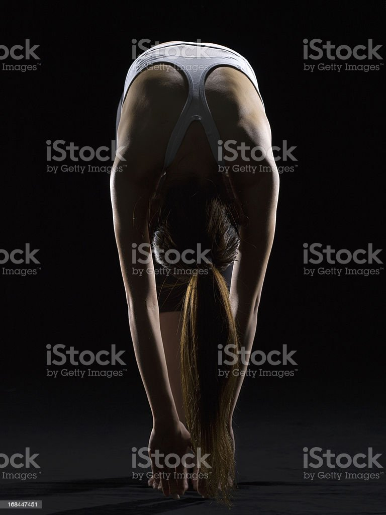 Stretching exercise royalty-free stock photo