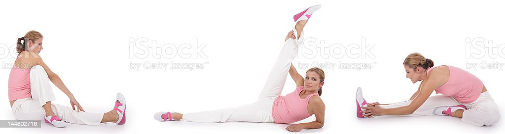 stretching exercises royalty-free stock photo