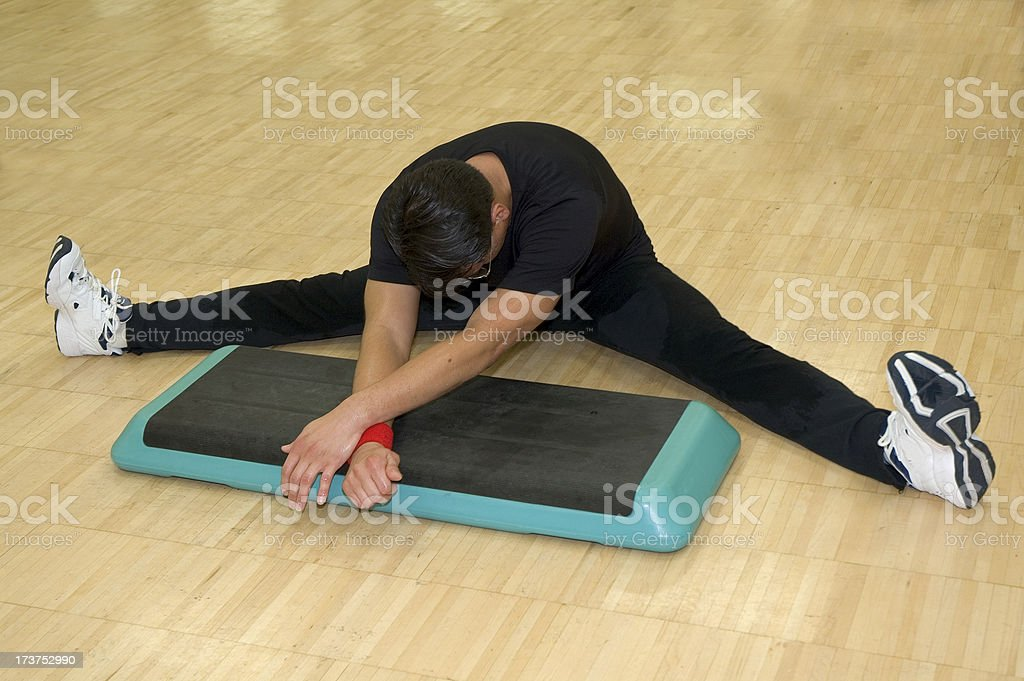 Stretching in fitness class royalty-free stock photo