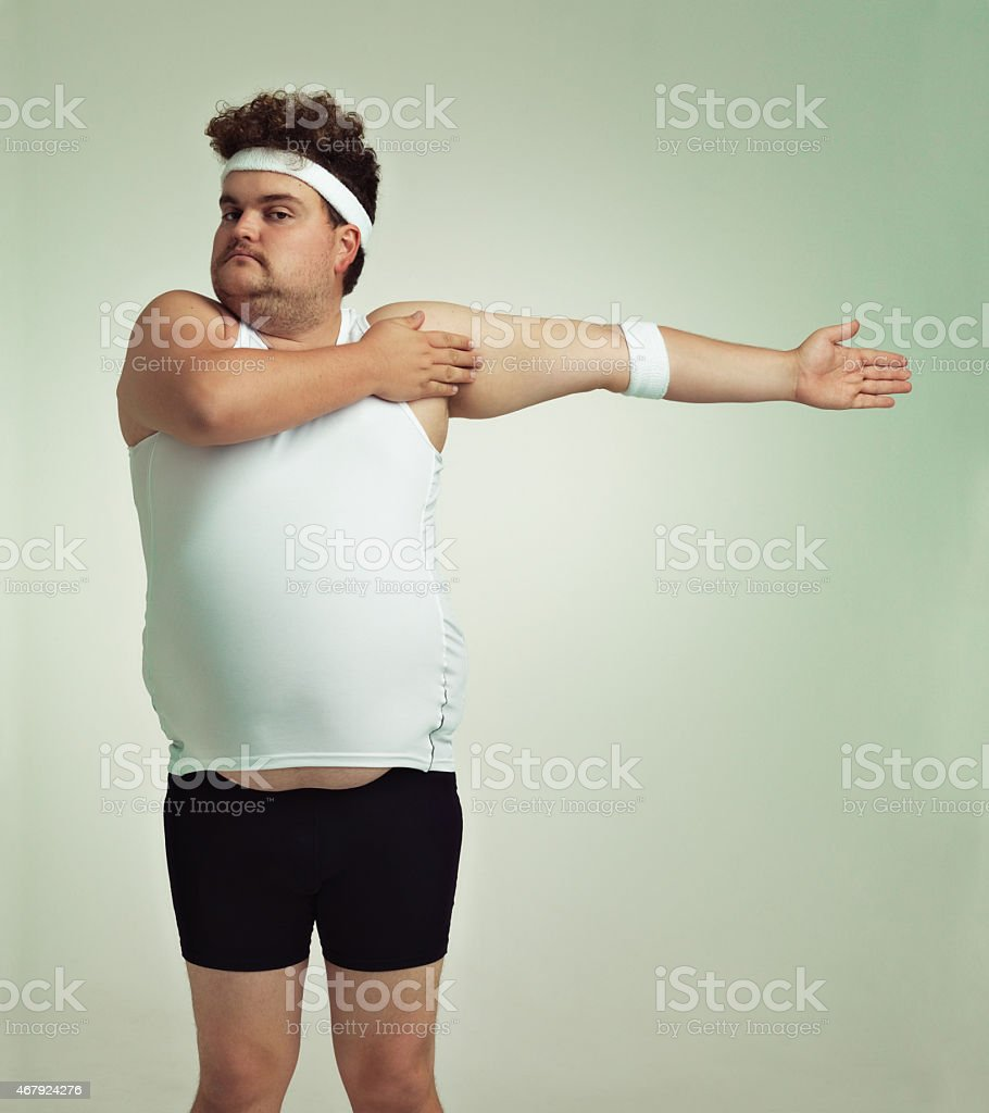 Stretching is important stock photo