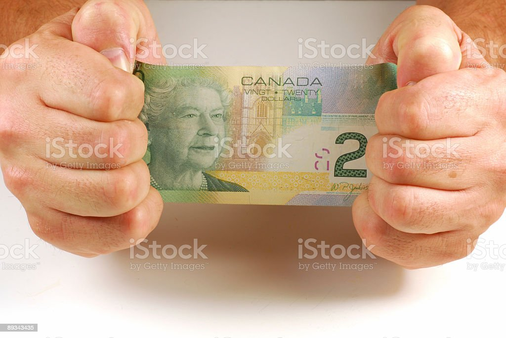 Stretching money royalty-free stock photo