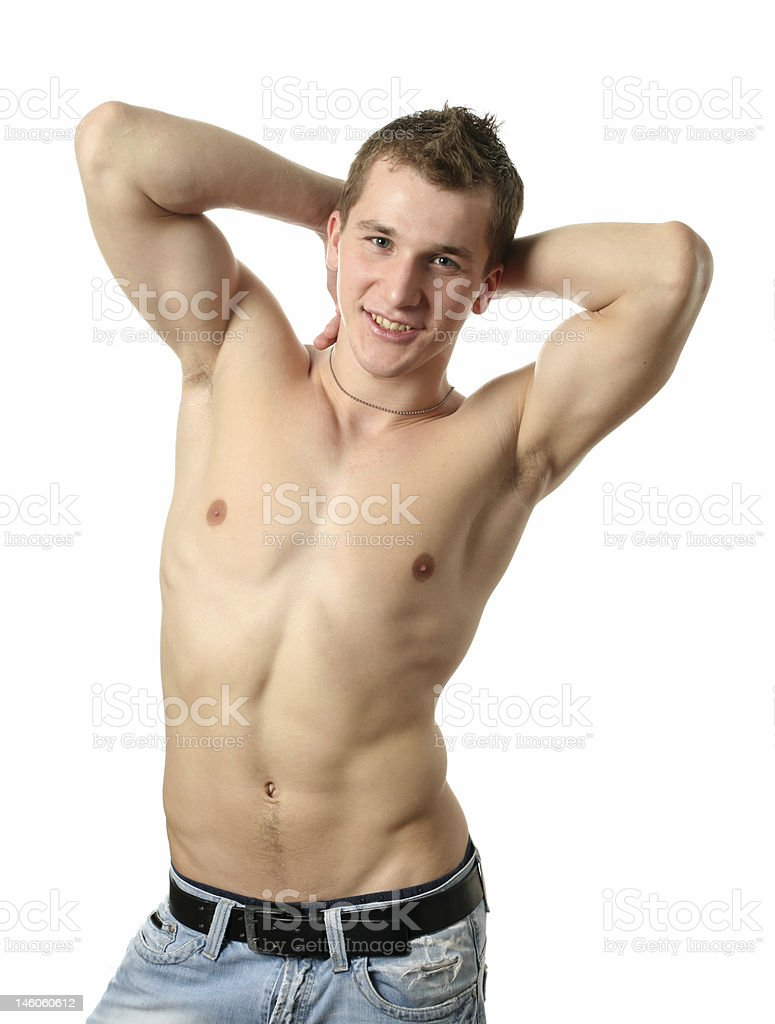 Stretching Muscular Man royalty-free stock photo