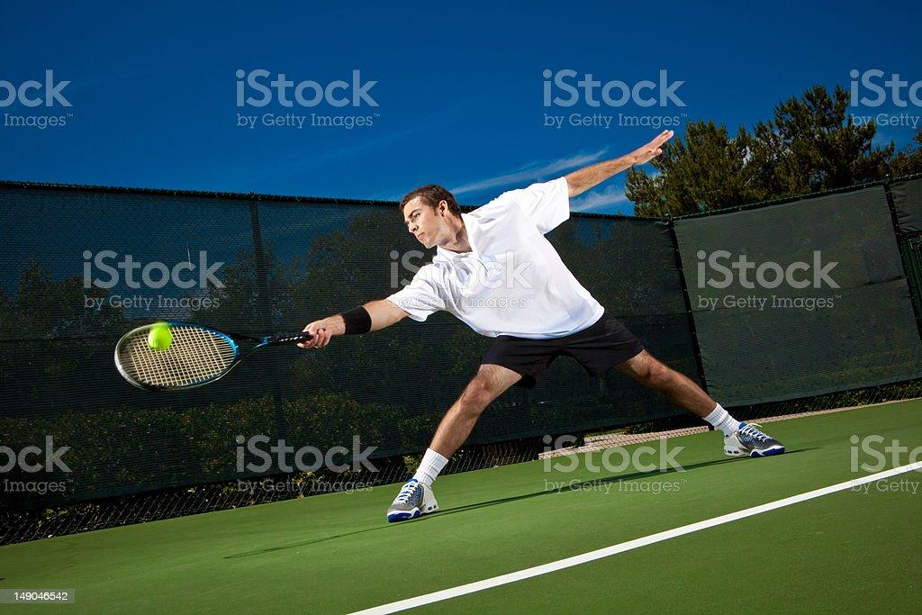 Stretching Return royalty-free stock photo