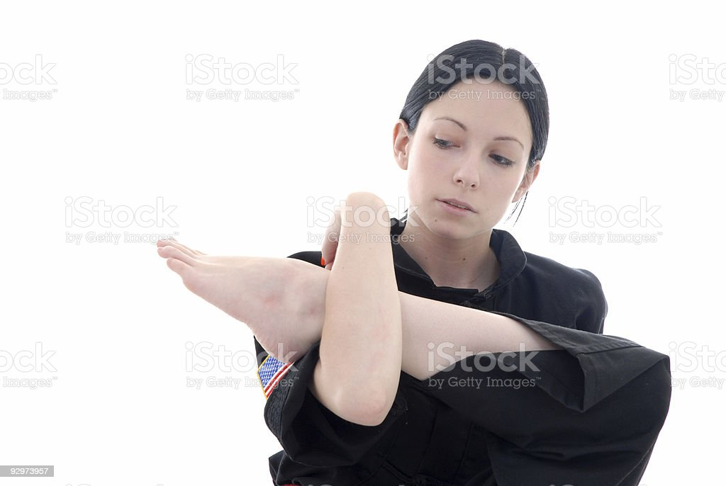 Stretching the hips royalty-free stock photo
