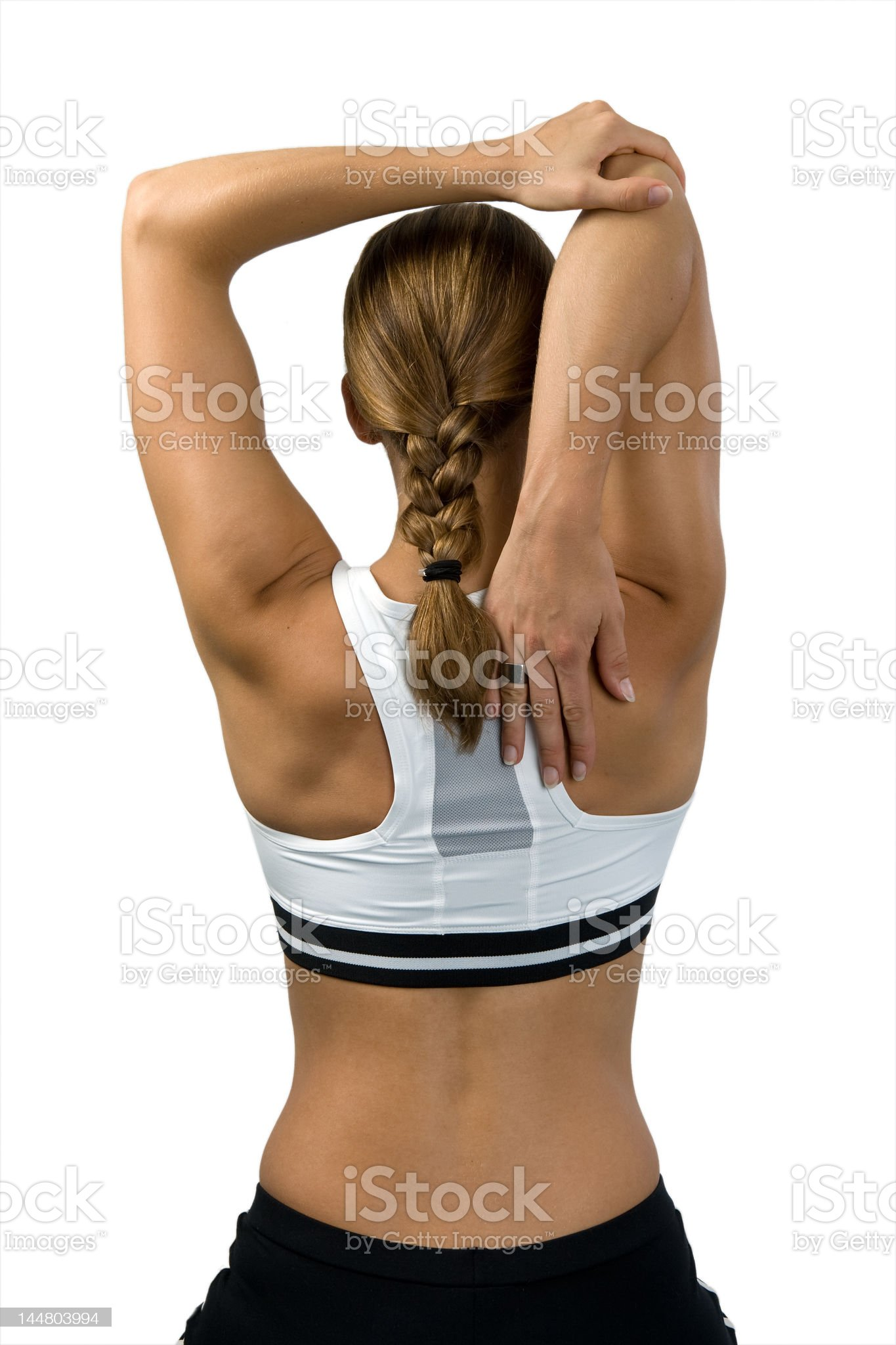 Stretching the muscles royalty-free stock photo