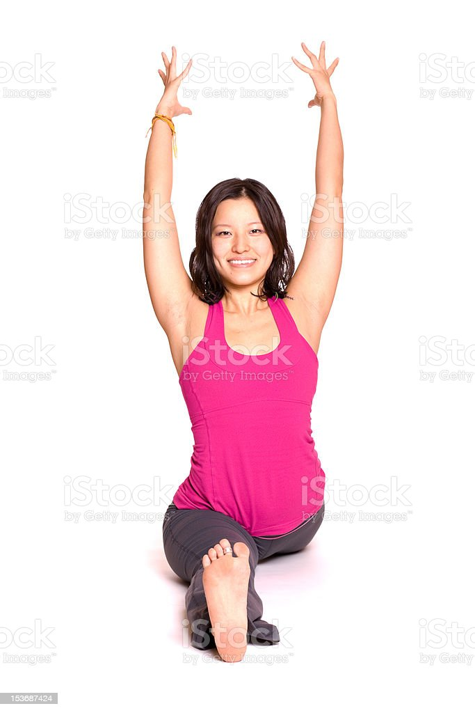 Stretching with Confidence royalty-free stock photo