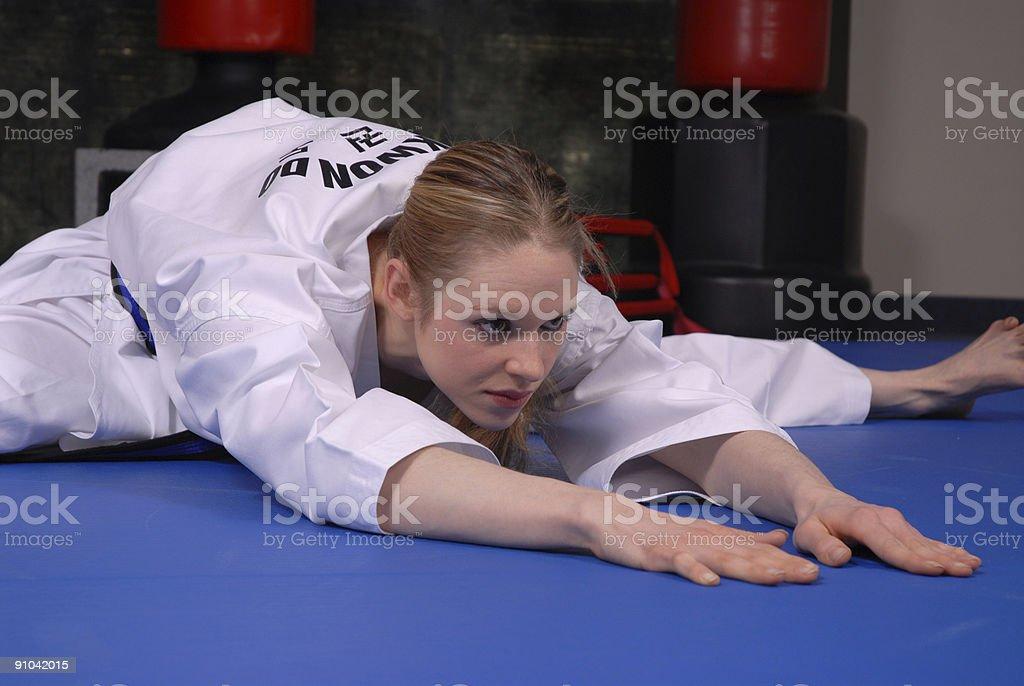 Stretching zone stock photo