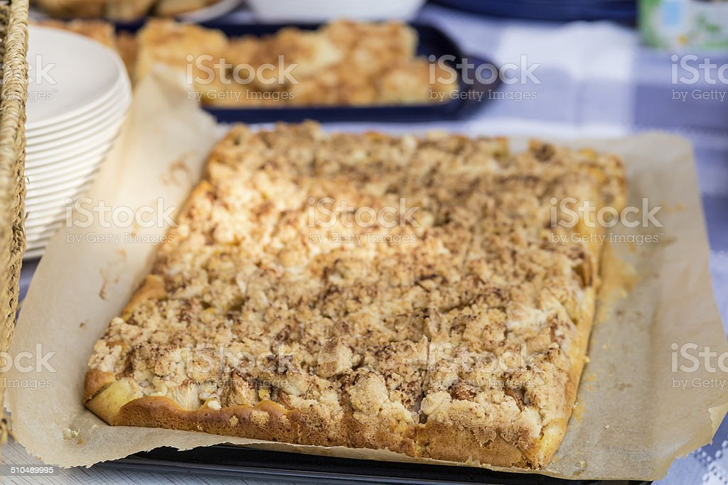 streusel cake stock photo