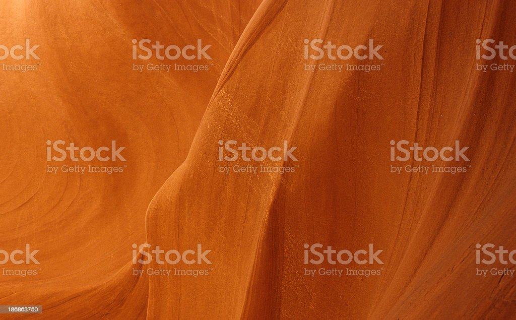 Striations showing on orange glowing red rock stock photo