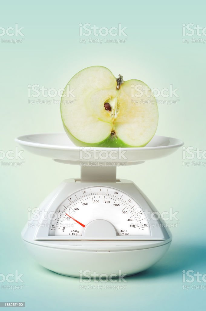 stric diet - apple royalty-free stock photo