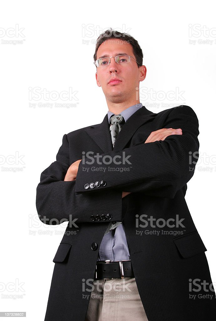 Strict boss stock photo