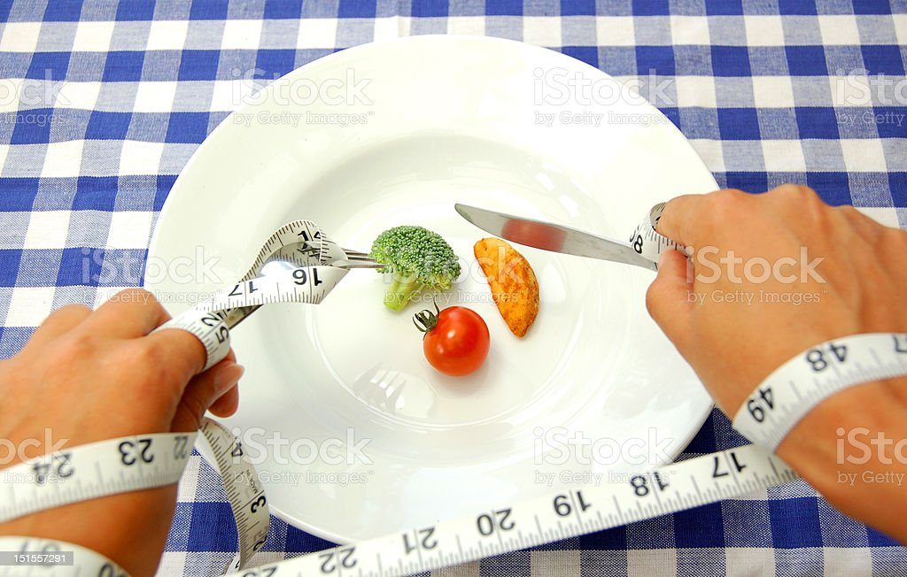 Strict diet stock photo