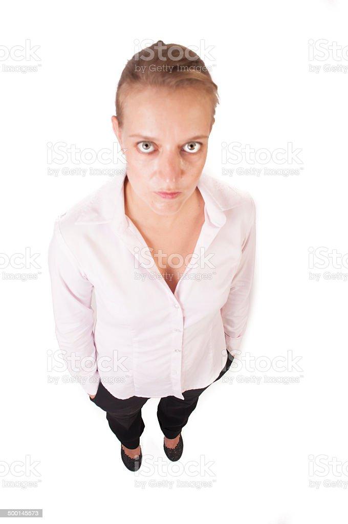 Strict woman stock photo